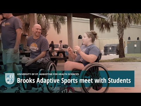 Brooks Adaptive Sports meet with Students at the University of St Augustine for Health Sciences Video