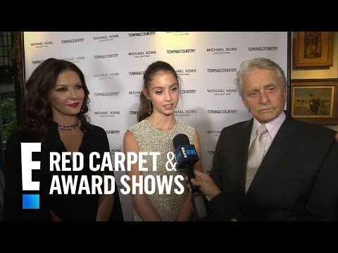 Michael Douglas & Catherine ZetaJones Support Daughter Carys  E! Live from the Red Carpet