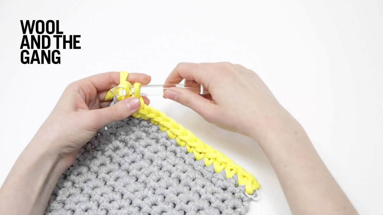 How To Make A Single Crochet Edge Trim Youtube
