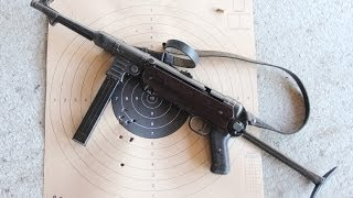 Shooting the German MP40 submachine gun
