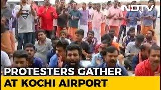 Trupti Desai, Heading To Sabarimala, Blocked By Protests At Kochi Airport