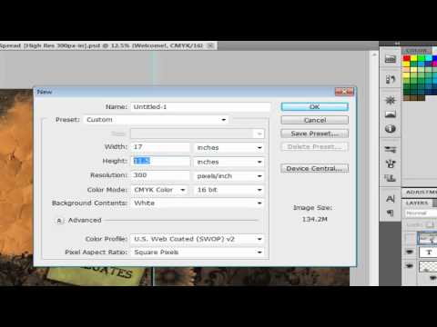 Photoshop: Yearbook Dimensions│Tutorial