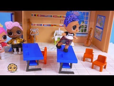 Boy Dancing At School ! LOL Surprise Toy  Cookie Swirl C Video