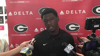 Riley Ridley discusses Georgia's upcoming game with South Carolina
