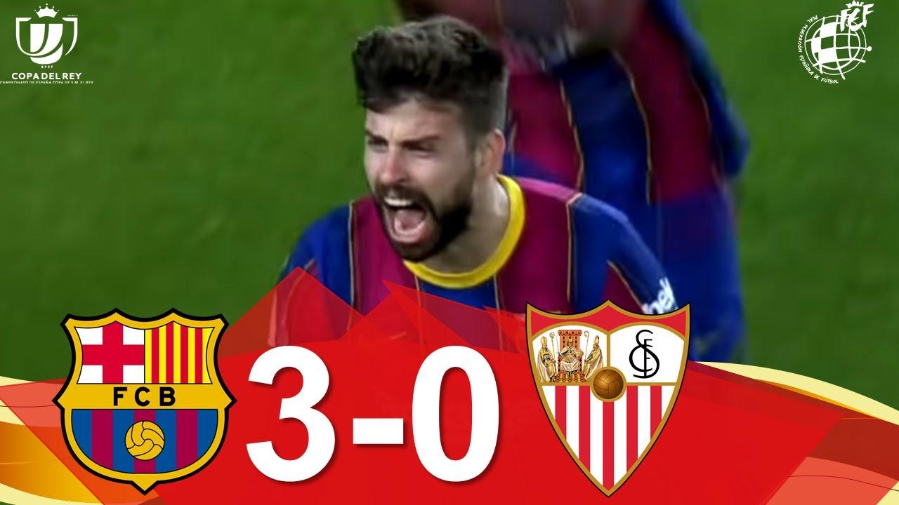 Download RESUMEN | FC Barcelona 3-0 Sevilla FC | Vuelta de las semifinales de la Copa de SM el Rey
