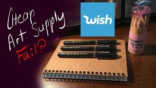 Wish App Haul and Cheap Art Supply Challenge Fail?