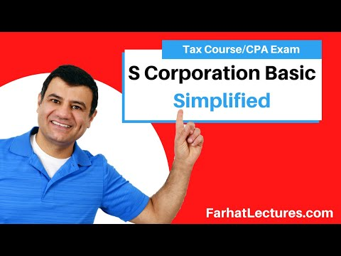 S Corporation Basic | Corporate Income Tax | CPA REG | Ch 22