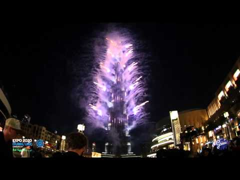 Fireworks by Grucci at Dubai's Expo 2020 Bid