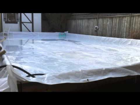 Backyard custom Ice Hockey Rink & Easy how to build - YouTube