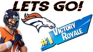 FORTNITE + NFL SKINS! BRONCOS #1 SKIN! WE WIN!