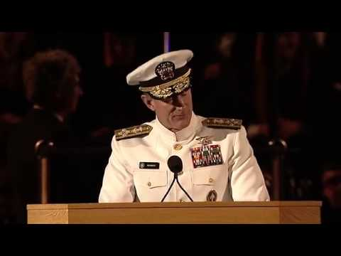 University of Texas at Austin 2014 Commencement Address   Admiral William H  McRaven   YouTube
