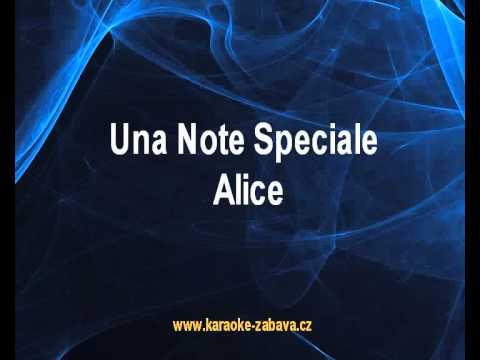 Una Note Speciale - Alice Karaoke tip