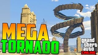 MEGA TORNADO FLIPANTE!! - Gameplay GTA 5 Online Funny Moments (Carrera GTA V PS4)