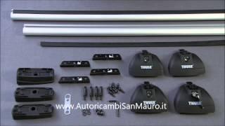 Thule Rapid System 753 - монтаж вбудованих профілів і точок кріплення - AutoricambiSanMauro.і