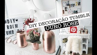 DIY - ROOM DECOR ROSE GOLD TUMBLR/PINTEREST