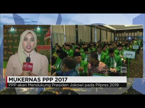 Mukernas PPP 2017, Dukung Jokowi Di Pilpres 2019