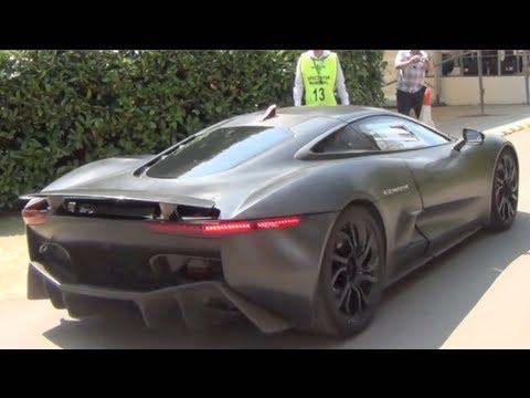 Jaguar C-X75 SOUND - Accelerations and Driving Scenes