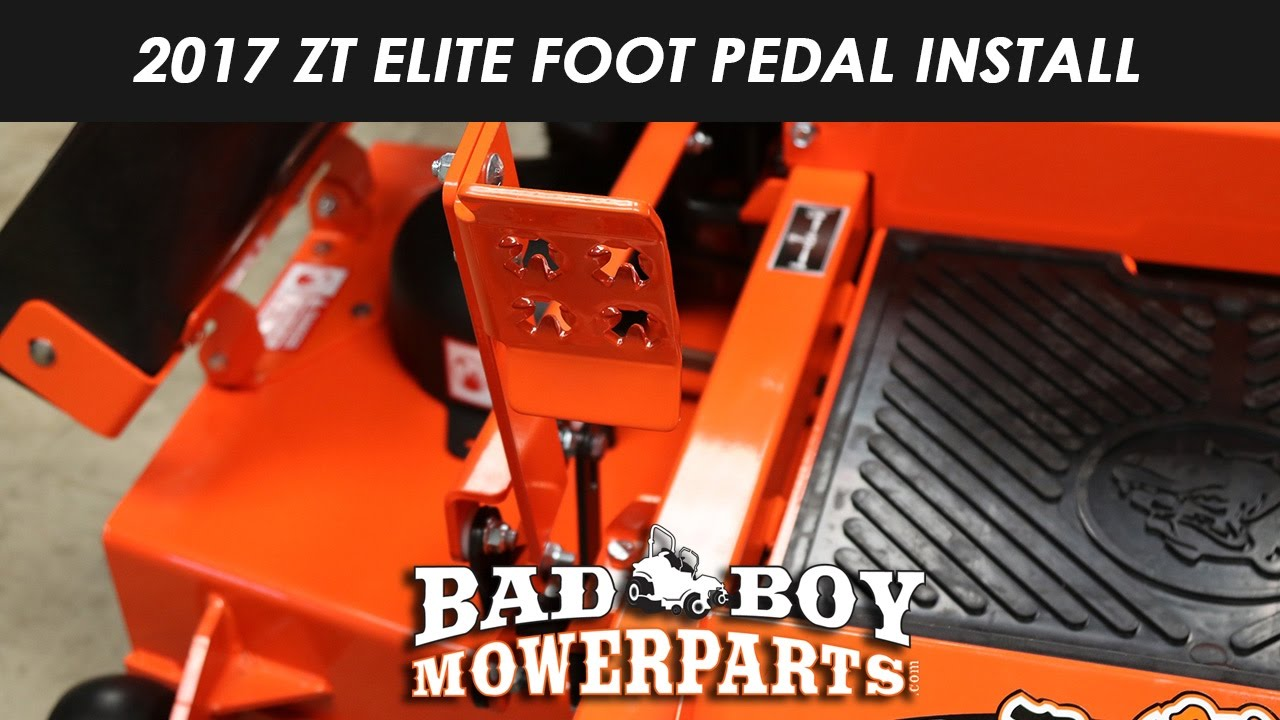 2017 ZT Elite Foot Pedal Assembly Install