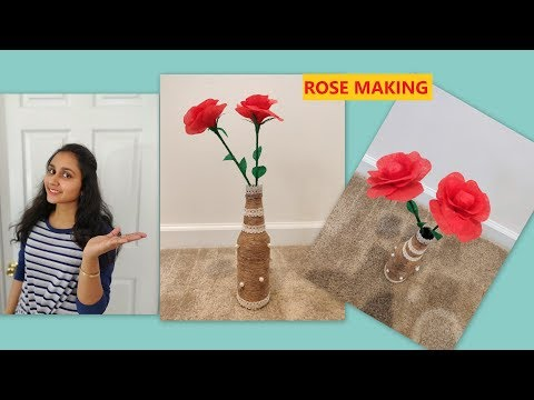 Easy and beautiful paper flower making | Rose Making | DIY | Simple and Easy Craft | WithToraTinni