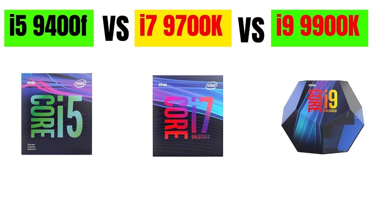 Core i5 9400f VS Core i7 9700K VS Core i9 9900K ベンチマークテスト ...