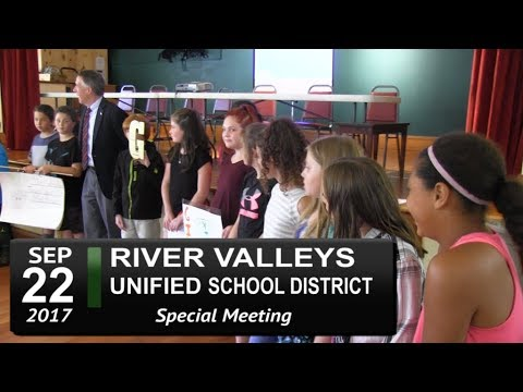 River Valleys Unified School District (RVUSD) School Bd Mtg 9/22/17