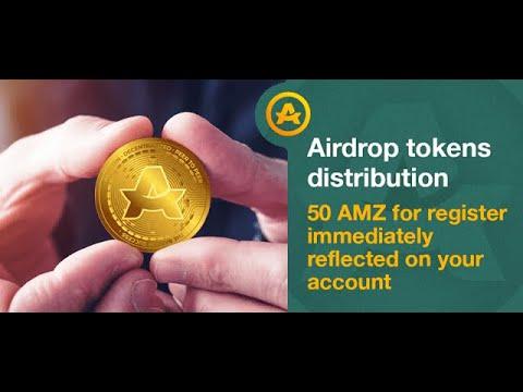 AMZ Coin Airdrop - Получите 50 Токенов AMZ за простую регистрацию / Криптовалюта бесплатно