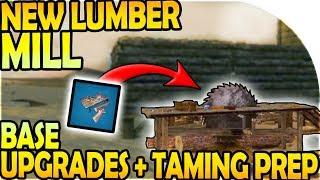 NEW LUMBER MILL - BIG BASE UPGRADES + TAMING PREP ( ARK Survival Evolved Mobile Gameplay Part 4 )