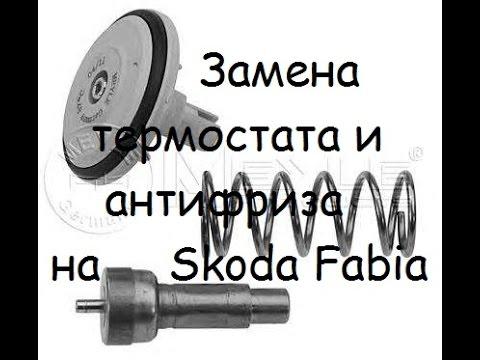 Замена термостата и антифриза на Skoda Fabia