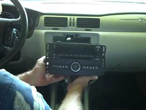 hqdefault chevrolet impala car stereo removal and repair 2006 2011 youtube 2006 chevy impala radio harness wiring at webbmarketing.co