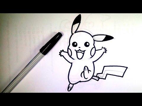 วาดการ์ตูน กันเถอะ สอนวาดรูป การ์ตูน พิกาชู จาก การ์ตูน โปเกม่อน