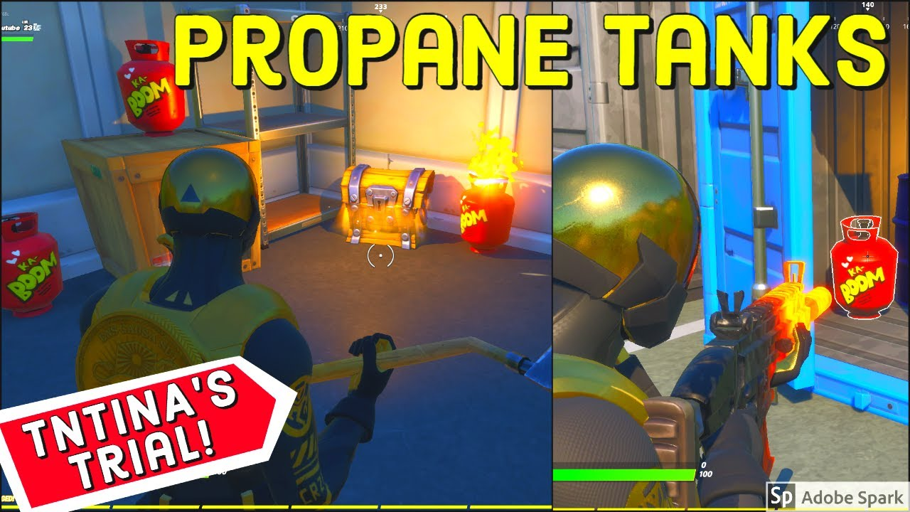 Destroy Propane Tanks Fortnite Destroy Structures With Propane Tanks Best Location Tntina S Trial Challenges Week 3 Fortnite Youtube