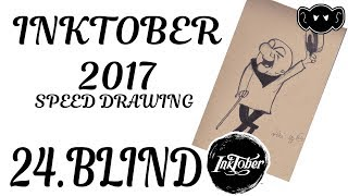 #INKTOBER 24 BLIND: MR MAGOO   - speed drawing  | DROIDMONKEY