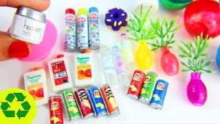 10 Easy DIY Miniatures - each in less than 1 minute #1 - simplekidscrafts