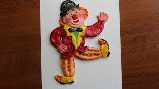 """Поделки из соленого теста своими руками. """"Клоун"""". Видео урок для детей 6-8 лет"""