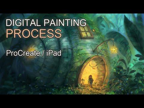 ProCreate Digital Painting – Cozy little place I – Fantasy Landscape Time-lapse