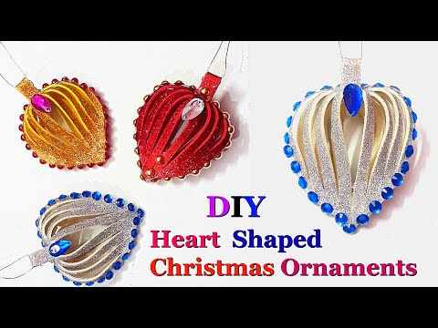 DIY- Heart shaped Christmas Tree ornament making ideas |DIY Christmas decoration idea