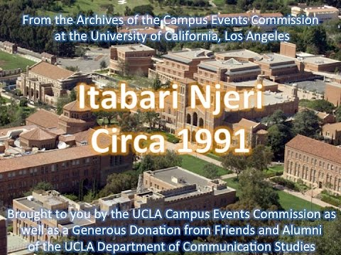 Itabari Njeri at UCLA 1991