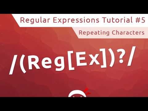 Regular Expressions (RegEx) Tutorial #5 - Repeating Characters