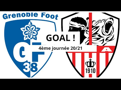 Grenoble AC Ajaccio Goals And Highlights