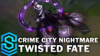 Crime City Nightmare Twisted Fate Skin Spotlight - Pre-Release - League of Legends