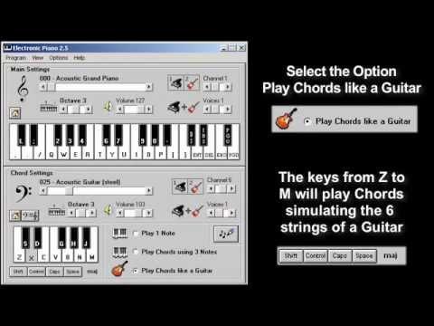 Програмку виртуальной игры на гитаре