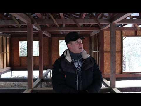 Проекты домов! Мега Каркас Жилого Дома в сосновом лесу. Клееный брус.