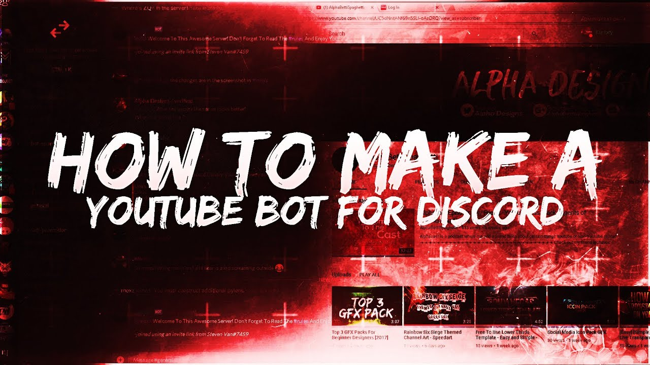 How To Make A Youtube Bot For Your Discord Server [2017]