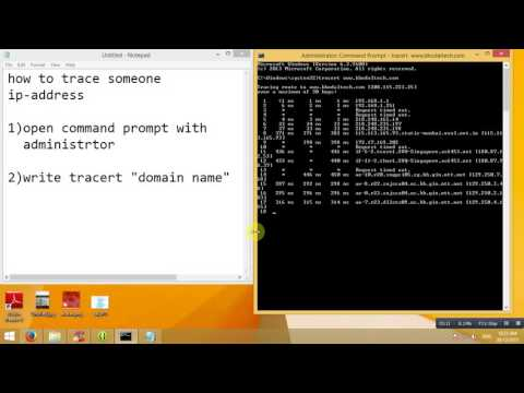 How to trace someone ip address using cmd  - YouTube