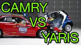 Toyota Camry vs Toyota Yaris Crash Test