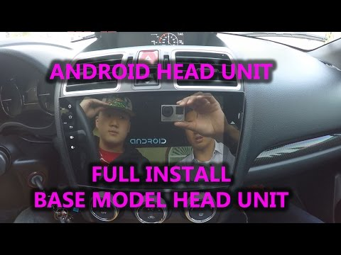 Android Head Unit FULL INSTALL VIDEO! BASE  Subaru WRX STI FORESTER 2015 CAR AUDIO rk3188