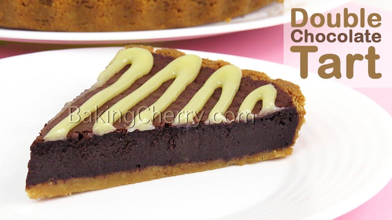DOUBLE CHOCOLATE TART Recipe (Using a Blender) | DIY Yummy Dessert | Chocolate Pie | Baking Cherry