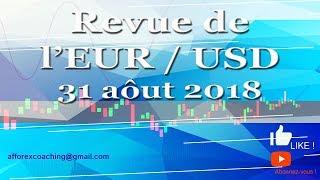 TRADER FOREX - EUR/USD - Le Trade du jour - 31 août 2018