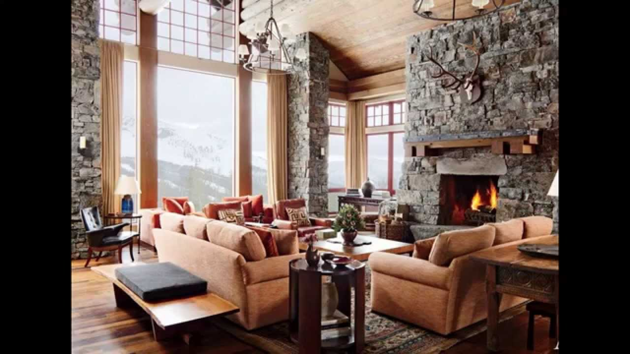rustic living room design ideas - youtube