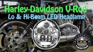 Pathfinder L.E.D. Headlight On Harley-Davidson V-Rod